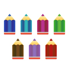Pencils icons vector image