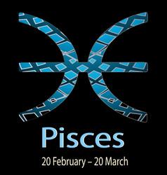 Pisces ornamental decorative zodiac sign vector