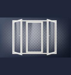 plastic door plastic door frame opened vector image