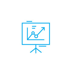presentation board linear icon concept vector image