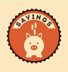 Savings icon vector