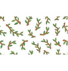 seamless pattern with branches tree vector image