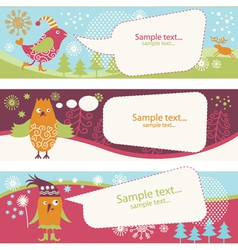 Set holiday banners vector