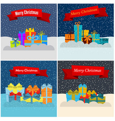 set of four new year vector image
