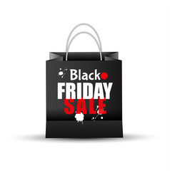 shopping paper black friday sale bag empty vector image