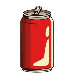 Soda can icon vector