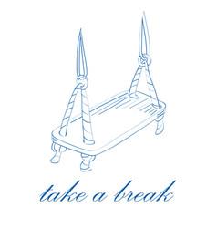 Take a break concept vector