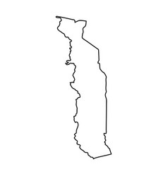 togolese republic map of black contour curves on vector image