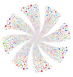Toilet paper roll fireworks swirl flower vector