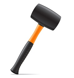 tool hammer 03 vector image vector image