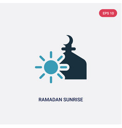 two color ramadan sunrise icon from religion-2 vector image