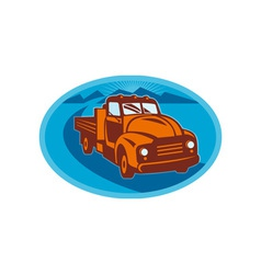Vintage pick-up cargo farm truck vector