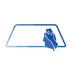 wipe car window icon vector image