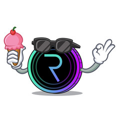 With ice cream request network coin character vector