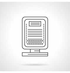 City lightbox flat line icon vector image