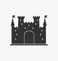 icon castle silhouette vector image