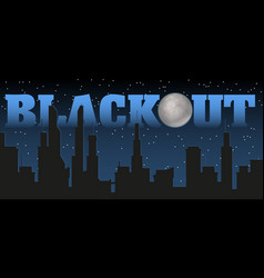 silhouette of the city and night with stars fool vector image vector image