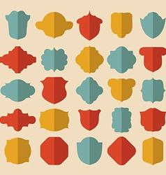 Simple vintage design elements vector image