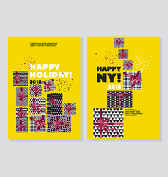happy new year and xmas concept poster template vector image vector image