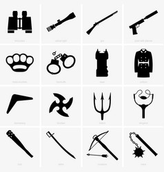 military objects vector image vector image
