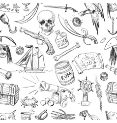 Pirates pattern Hand drawn vector image vector image