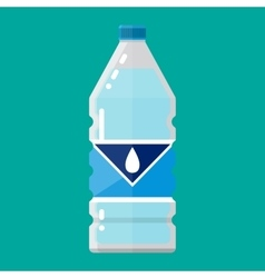plastic bottle of pure water vector image vector image