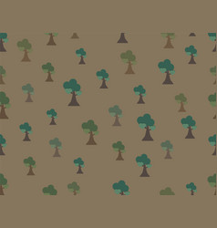 seamless tree background pattern vector image vector image