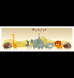 Wild animal background 1 vector image vector image
