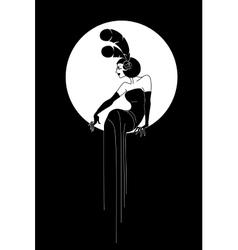 Art Deco Lady fashion design vector image vector image
