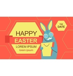 Easter bunny with shopping bag vector image