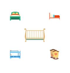 Flat bedroom set of bearings crib bunk bed and vector