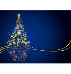 Modern golden Christmas tree vector image