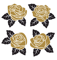 Roses set 003 vector