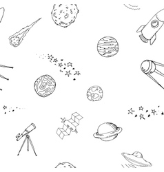 Seamless dooble space pattern set vector image vector image