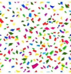Vibrant seamless pattern of falling confetti vector