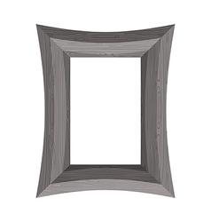 Vintage Wooden picture frame of black wood vector image