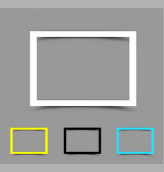a4 paper frame horizontal vector image vector image
