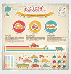 big traffic infographics vector image vector image