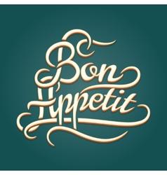 Bon appetit vintage lettering vector