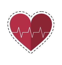 Cartoon heart pulse rhythm cardio vector