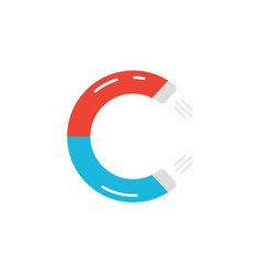 letter c logo like magnet icon vector image