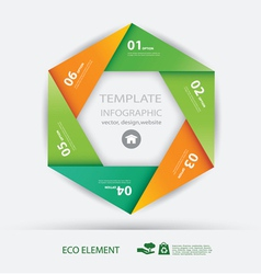 paper element and numbers design template vector image vector image