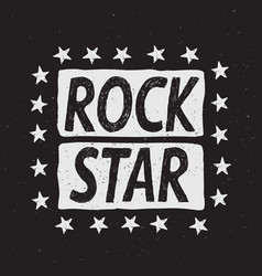 rock star prints label vector image