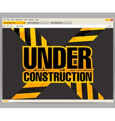 Under construction site template vector image vector image