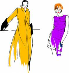 yellow purple fashion girl vector image vector image