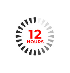 12h color icon and time concept vector