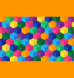 abstract boxes background square mesh vector image