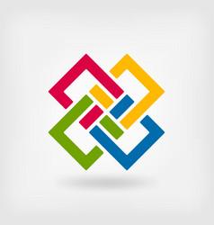 abstract interlocking squares vector image