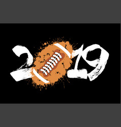 abstract number 2019 and a football ball of blots vector image