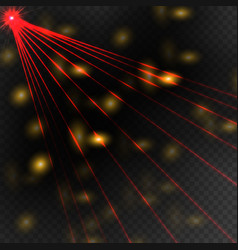 abstract red laser beam vector image